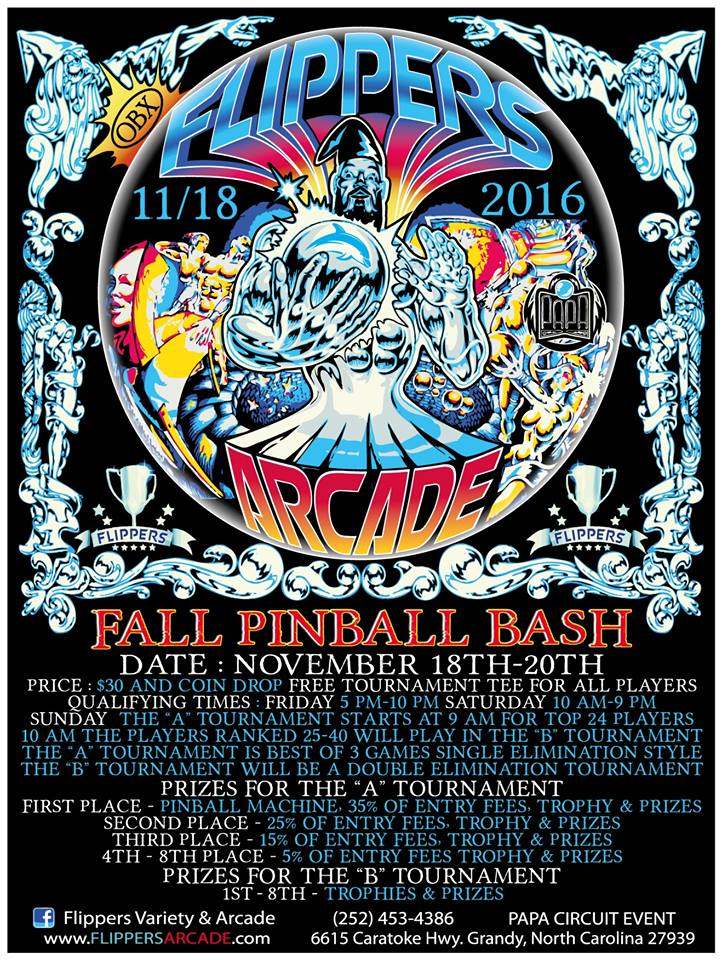 Fall Pinball Bash Tournament November 2016